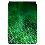 Ombre Green Abstract Forest Flap Covers (L)  Front