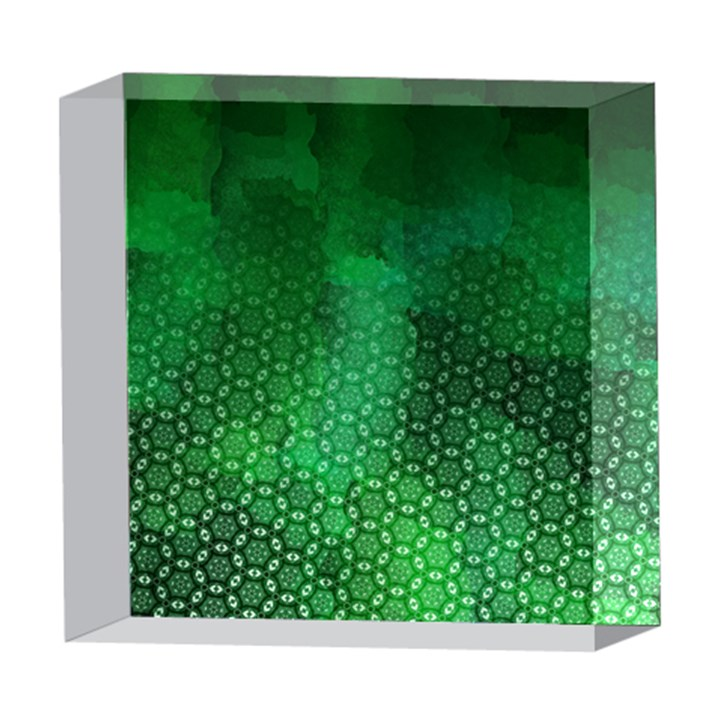 Ombre Green Abstract Forest 5  x 5  Acrylic Photo Blocks