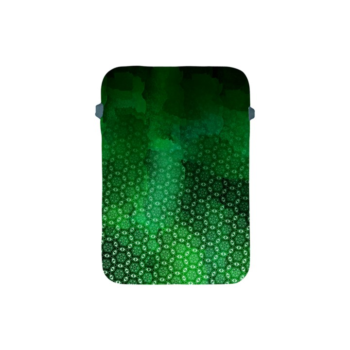 Ombre Green Abstract Forest Apple iPad Mini Protective Soft Cases