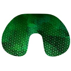 Ombre Green Abstract Forest Travel Neck Pillows