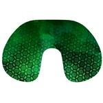 Ombre Green Abstract Forest Travel Neck Pillows Back