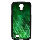 Ombre Green Abstract Forest Samsung Galaxy S4 I9500/ I9505 Case (Black) Front