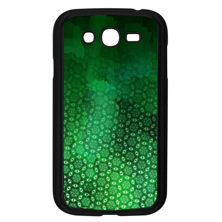 Ombre Green Abstract Forest Samsung Galaxy Grand DUOS I9082 Case (Black)