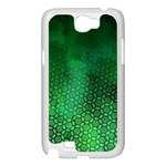 Ombre Green Abstract Forest Samsung Galaxy Note 2 Case (White) Front