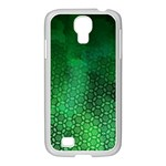 Ombre Green Abstract Forest Samsung GALAXY S4 I9500/ I9505 Case (White) Front