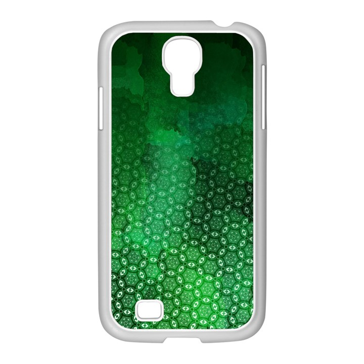 Ombre Green Abstract Forest Samsung GALAXY S4 I9500/ I9505 Case (White)