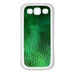 Ombre Green Abstract Forest Samsung Galaxy S3 Back Case (White) Front