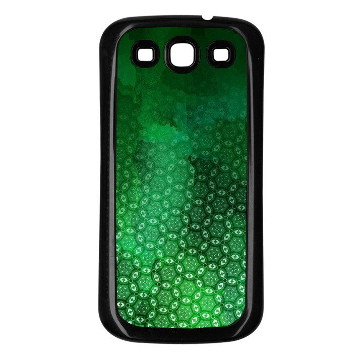 Ombre Green Abstract Forest Samsung Galaxy S3 Back Case (Black)