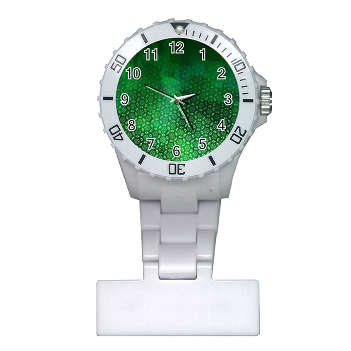 Ombre Green Abstract Forest Plastic Nurses Watch