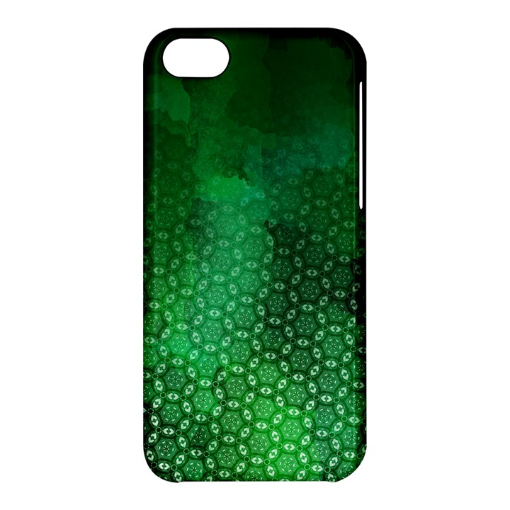 Ombre Green Abstract Forest Apple iPhone 5C Hardshell Case