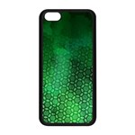 Ombre Green Abstract Forest Apple iPhone 5C Seamless Case (Black) Front
