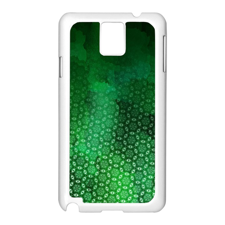 Ombre Green Abstract Forest Samsung Galaxy Note 3 N9005 Case (White)