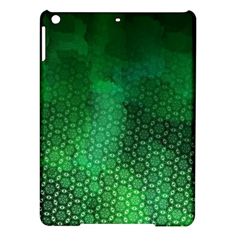 Ombre Green Abstract Forest iPad Air Hardshell Cases