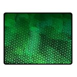 Ombre Green Abstract Forest Double Sided Fleece Blanket (Small)  50 x40 Blanket Back