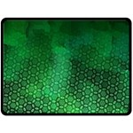 Ombre Green Abstract Forest Double Sided Fleece Blanket (Large)  80 x60 Blanket Front