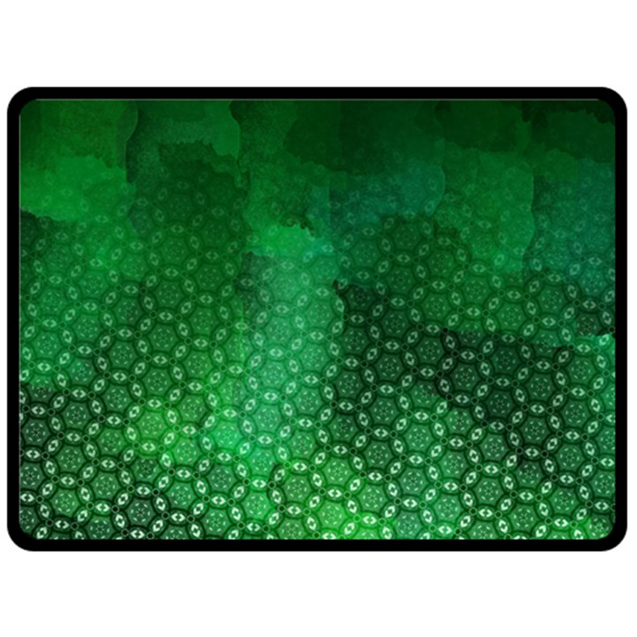 Ombre Green Abstract Forest Double Sided Fleece Blanket (Large)