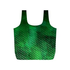Ombre Green Abstract Forest Full Print Recycle Bags (S)