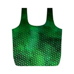Ombre Green Abstract Forest Full Print Recycle Bags (M)  Front
