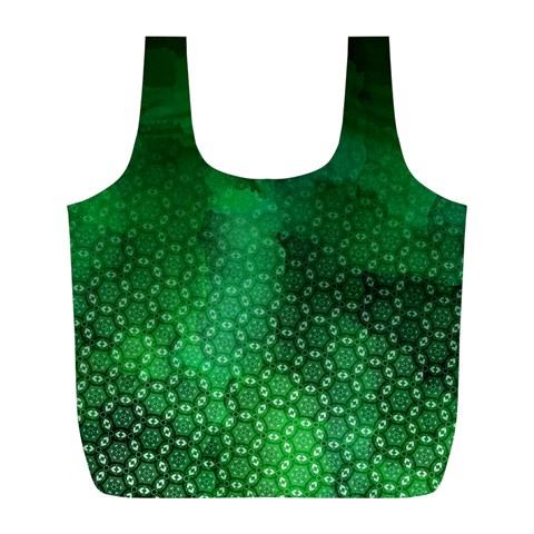 Ombre Green Abstract Forest Full Print Recycle Bags (L)