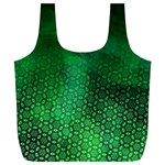 Ombre Green Abstract Forest Full Print Recycle Bags (L)  Back