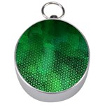 Ombre Green Abstract Forest Silver Compasses Front