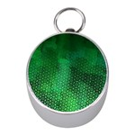 Ombre Green Abstract Forest Mini Silver Compasses Front