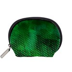 Ombre Green Abstract Forest Accessory Pouches (Small)  Front