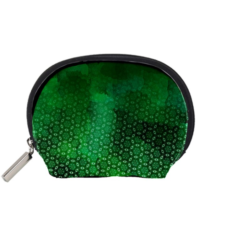 Ombre Green Abstract Forest Accessory Pouches (Small)