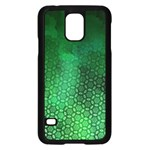 Ombre Green Abstract Forest Samsung Galaxy S5 Case (Black) Front