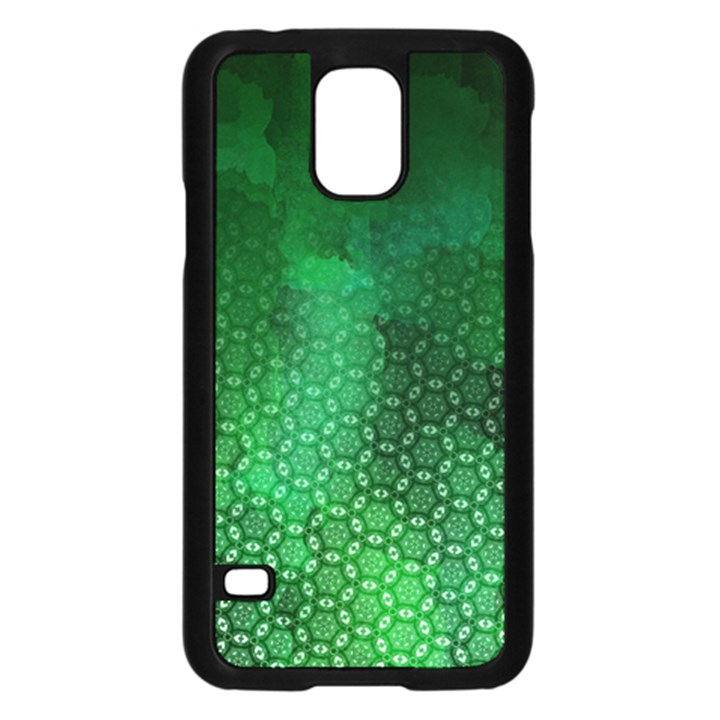 Ombre Green Abstract Forest Samsung Galaxy S5 Case (Black)