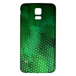 Ombre Green Abstract Forest Samsung Galaxy S5 Back Case (White) Front
