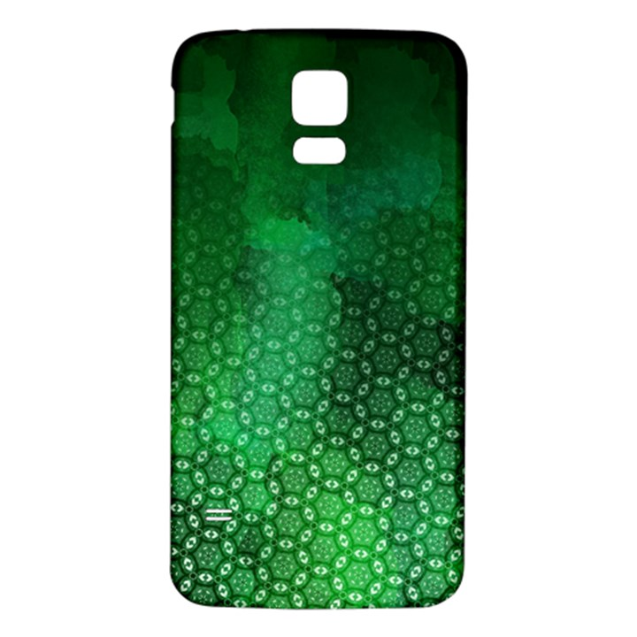 Ombre Green Abstract Forest Samsung Galaxy S5 Back Case (White)