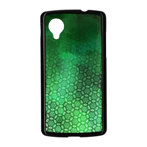 Ombre Green Abstract Forest Nexus 5 Case (Black)