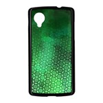 Ombre Green Abstract Forest Nexus 5 Case (Black) Front