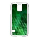 Ombre Green Abstract Forest Samsung Galaxy S5 Case (White) Front
