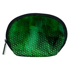 Ombre Green Abstract Forest Accessory Pouches (Medium)