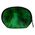 Ombre Green Abstract Forest Accessory Pouches (Medium)  Back
