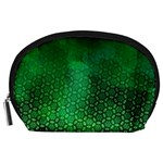 Ombre Green Abstract Forest Accessory Pouches (Large)  Front