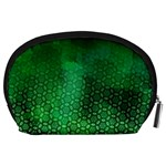 Ombre Green Abstract Forest Accessory Pouches (Large)  Back