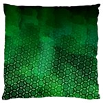 Ombre Green Abstract Forest Large Flano Cushion Case (Two Sides) Back