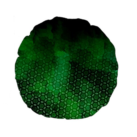 Ombre Green Abstract Forest Standard 15  Premium Flano Round Cushions