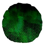 Ombre Green Abstract Forest Large 18  Premium Flano Round Cushions Front