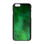 Ombre Green Abstract Forest Apple iPhone 6/6S Black Enamel Case Front