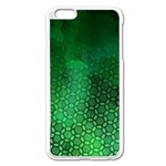 Ombre Green Abstract Forest Apple iPhone 6 Plus/6S Plus Enamel White Case Front