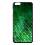 Ombre Green Abstract Forest Apple iPhone 6 Plus/6S Plus Black Enamel Case Front