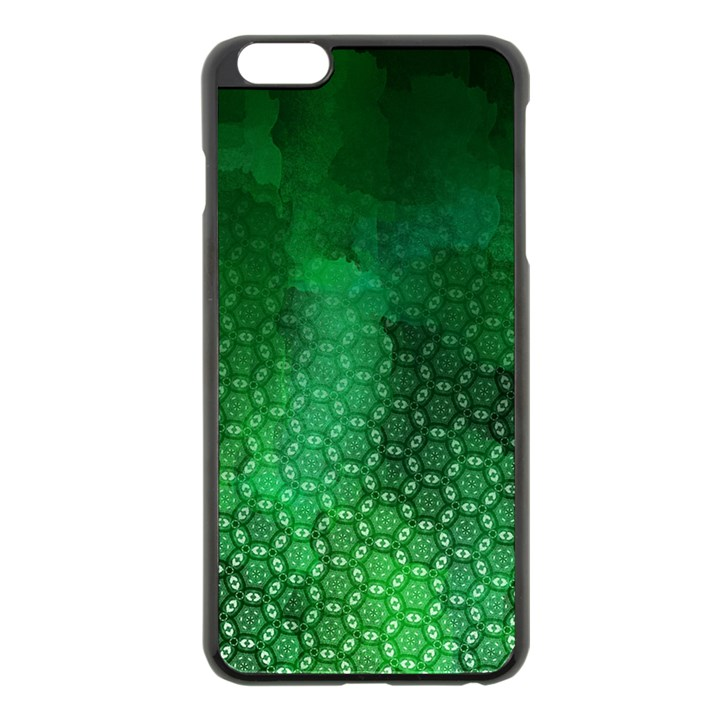 Ombre Green Abstract Forest Apple iPhone 6 Plus/6S Plus Black Enamel Case