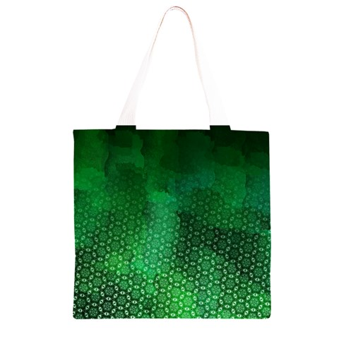 Ombre Green Abstract Forest Grocery Light Tote Bag