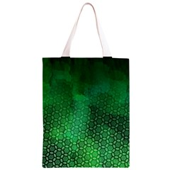Ombre Green Abstract Forest Classic Light Tote Bag