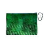 Ombre Green Abstract Forest Canvas Cosmetic Bag (M) Back