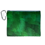 Ombre Green Abstract Forest Canvas Cosmetic Bag (XL) Front